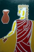 tableau personnages mythologie : Pandore ouvrant la jarre