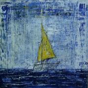 tableau marine la mer tranquille voilier : En mer tranquille