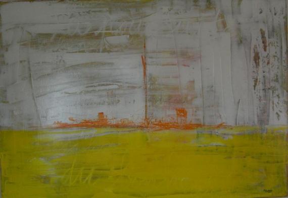 TABLEAU PEINTURE bonheur Abstrait Acrylique  - A la Poursuite du Bonheur