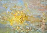 tableau abstrait abstrait moderne couleurs fleurs : abstrait
