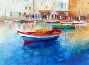 painting marine barque voilier mer port hammamet tunisi : hammamet