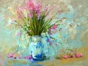 painting nature morte bouquet fleurs vase : bouquet originale