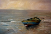 tableau marine bateau barque mer marine : La barque
