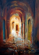 tableau villes moderne contemporain art ville tunis histoire : la medina mon amour