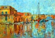 tableau marine ville architecture moderne mer : MARINE 555
