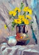 tableau fleurs fleurs roses vases couleur : les fleurs