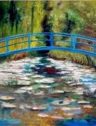 painting paysages paysage nature morte moderne : paysage bleu