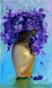 tableau fleurs violet mauve rose fleur : 2440 violet