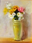 tableau nature morte bouquet fleurs vase naturemorte : le bouquet