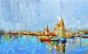 tableau marine barque marine voilier couleur mer lac bate : marine sublime