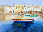 tableau marine mer bateau bleu couleur marine barqu : le vieux port