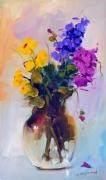tableau fleurs fleurs vase violet jasmin : vase2440