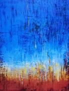 painting abstrait abstrait : abstrait bleu