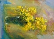 tableau abstrait fleurs abstraits couleurs moderne : abstrait 2