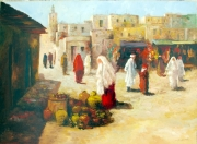 painting personnages urbain rurale compagne : vie rurale
