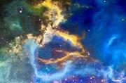 tableau abstrait abstrait ciel contemporain couleur : la magie du ciel