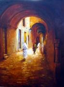 tableau villes ville histoire architecture arabesque lumiere co : Tunis mon amour