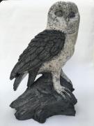 sculpture : Chouette raku