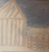 tableau paysages maison : la maison rayée