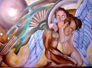 tableau personnages ange couple fantastique : angsS mélancoliques
