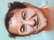 tableau personnages coluche celebrite julien jobert : Coluche