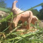 sculpture animaux croissant renifle tentation analyse : Chien renifleur