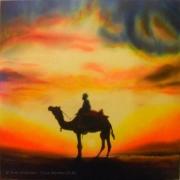 tableau scene de genre desert afrique mystique : Desert