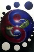 tableau autres yin yang snake serpent : Simple Secret