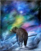 tableau animaux ours bear montagnes mountains : Matȟó He - L'Ours des Montagnes