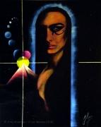 tableau personnages pyramide femme spiritisme chamanisme : Amour Pyramidal