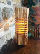 deco design autres lampe bois minimalisme led paulownia : Lampe bois tranché minimaliste