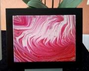 mixte abstrait ceramique blanc noir : 039/My Pink baby