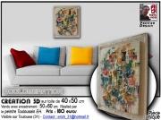 tableau abstrait design abstrait moderne volume : Agglomération