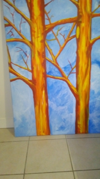TABLEAU PEINTURE Paysages Acrylique  - arbre