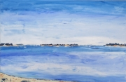 tableau paysages marine paysage morbihan bretagne : golfe du morbihan