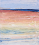 tableau paysages semi abstrait marine paysage bretagne peinture au couteau : MORBIHAN ST PHILIBERT