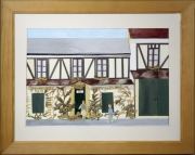 tableau paysages auberge naif restaurant houdan : L'Auberge