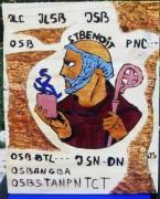 tableau personnages st benoit religion magie : ST BENOÎT
