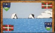 tableau paysages hendaye les deux jumeaux basque : Les deux jumeaux HENDAYE.. Vendu copie différente sur demande