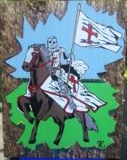 tableau personnages chevalier templier templiers cheval : CHEVALIER TEMPLIER