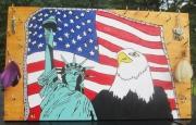 tableau villes new york usa drapeau aigle usa : USA. Vendu copie différente sur demande