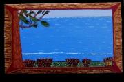 tableau paysages les pins la bruyere la mer les landes : les Landes Vendu copie différente sur demande