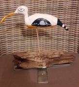 sculpture animaux oiseau courlis mer bois flotte : Courlis