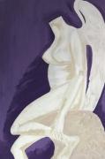 tableau nature morte violet sculpture nature morte ailes : L'Hirondelle Blessée