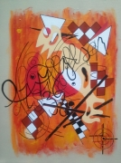 tableau abstrait medoc hourtin clin d oeil : COMPOSITION XI