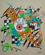 tableau abstrait gironde hourtin compositionx : compositionx série Clin d'Oeil à Kandindky