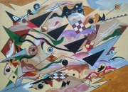 tableau abstrait medoc hourtin kandinsky : compositionVII