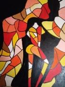 tableau nus femme nu fauvisme cubisme : 3 en un