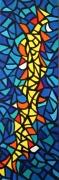 tableau autres vitrail montpellier couleurs : blue