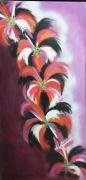 tableau fleurs fleurs mauve sete montpellier : guirlande violette